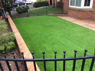 Artificial Grass installed by Evergreen Garden Services in Tunstall, Stoke-on-Trent, ST6