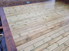 Decking and sleepers services in Alsager, Cheshire, CW11