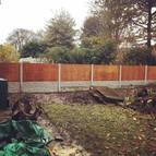 Close board fencing in Wolstanton, Newcastle-under-Lyme, ST5